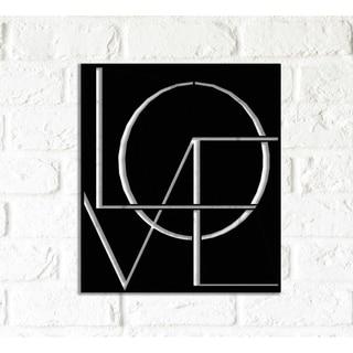 Decorative Metal Wall Art - Love  Word