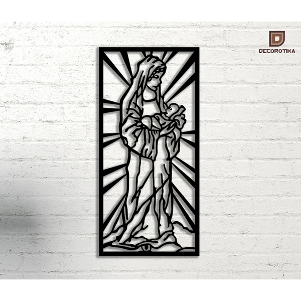 Holy Mary\' Black Metal Decorative Wall Art - Free Shipping Today ...