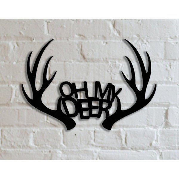 Decorative Metal Wall Art - Oh My Deer