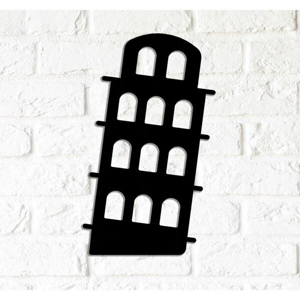 Decorative Metal Wall Art - Pisa Tower