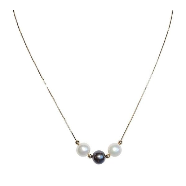 ba0c2de2a902c White and Black Pearls on Gold Chain Necklace