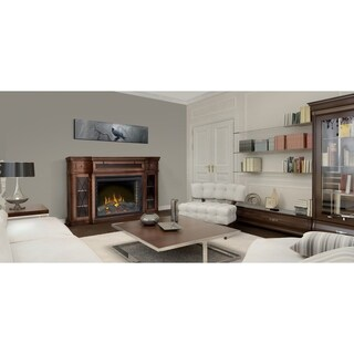 Napoleon The Colbert Mahogany Electric Fireplace Mantel Package with Media Compartment and Remote Control