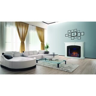 Napoleon The Taylor White Mantel Package with Electric Fireplace and Remote Control