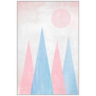 Marmont Hill - Handmade Pyramid Quartet Floater Framed Print on Canvas