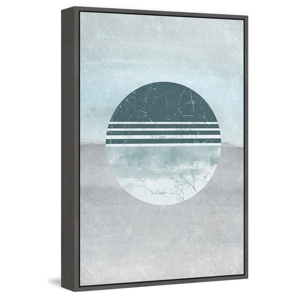 Marmont Hill - Handmade Teal Surprise Floater Framed Print on Canvas