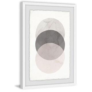 Three Circles' Framed Painting Print