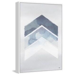 Marmont Hill - Handmade Tonal Blues Floater Framed Print on Canvas
