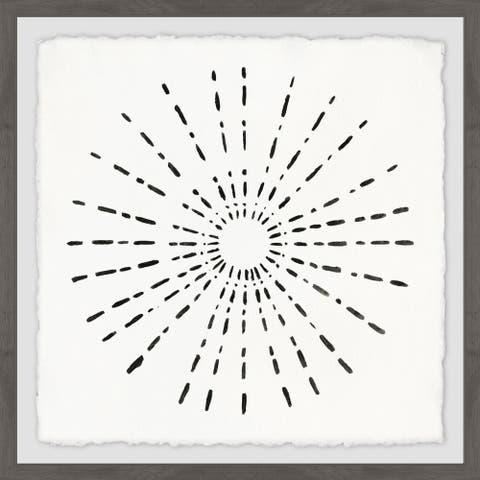 Marmont Hill - Handmade Burst of Black Framed Print