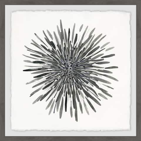 Marmont Hill - Handmade Burst of Gray Framed Print
