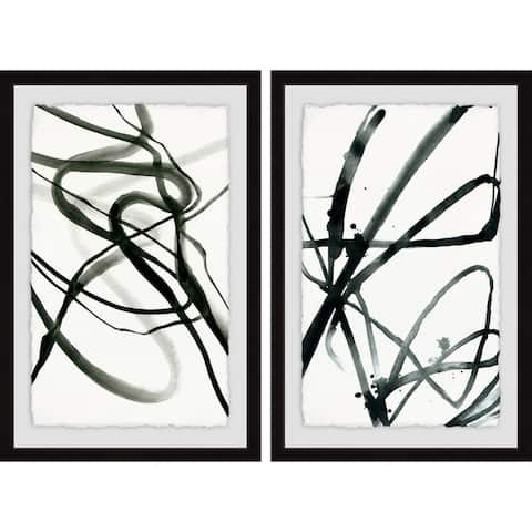Marmont Hill - Handmade Toxic Lines Diptych