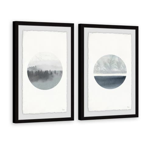 Marmont Hill - Handmade Luna Abajo Diptych