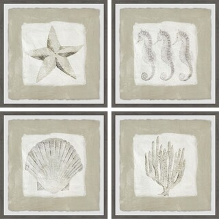 Link to Marmont Hill - Handmade Sea Fun Quadriptych - Multi-color Similar Items in Art Prints