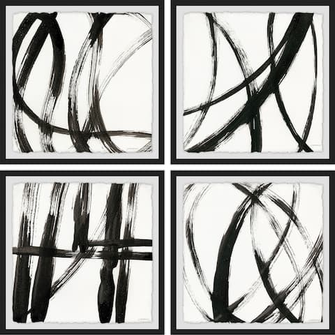 Marmont Hill - Handmade Linear Expression Quadriptych