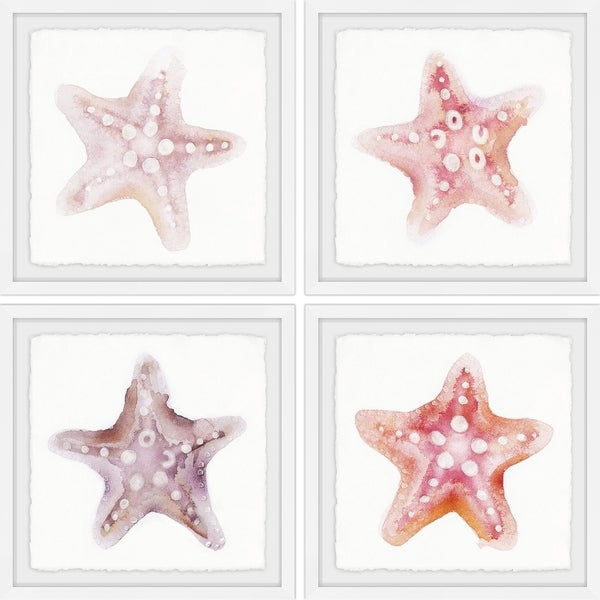 Marmont Hill - Handmade Starfish Gaze Quadriptych - Multi-color. Opens flyout.