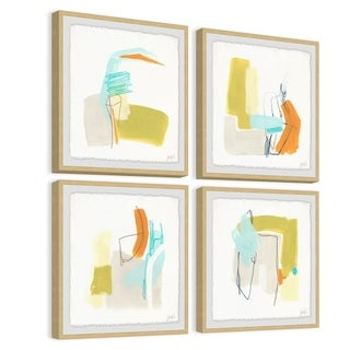 Link to Marmont Hill - Handmade Adagio II Quadriptych - Multi-color Similar Items in Art Prints