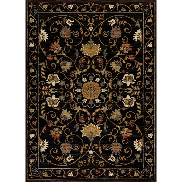 "Mod-Arte Crown Collection, CR03, Traditional Oriental Floral Design Area Rug, 7'8"" x 10'2"""