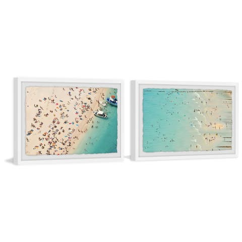 Marmont Hill - Handmade Beaches Diptych - Multi-color