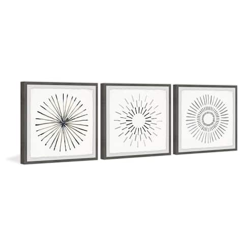 Marmont Hill - Handmade Circle Lines II Triptych - Multi-color