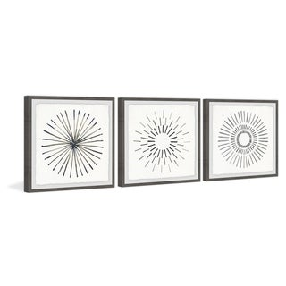 Link to Marmont Hill - Handmade Circle Lines II Triptych - Multi-color Similar Items in Art Prints