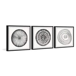 Link to Marmont Hill - Handmade Circle Bloom Triptych - Multi-color Similar Items in Matching Sets