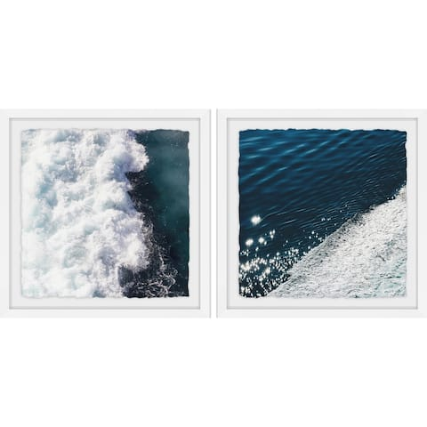 Marmont Hill - Handmade Beach Waves Diptych - Multi-color