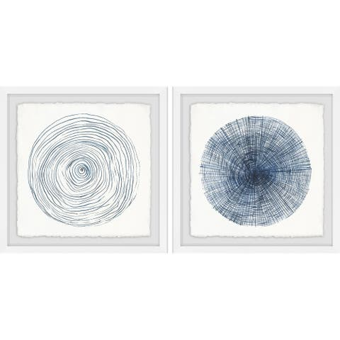 Marmont Hill - Handmade Circle Lines Diptych