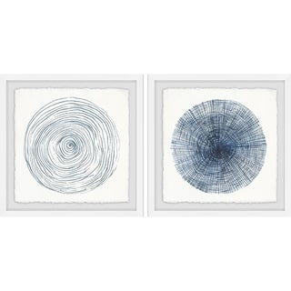 Link to Marmont Hill - Handmade Circle Lines Diptych - Multi-color Similar Items in Matching Sets