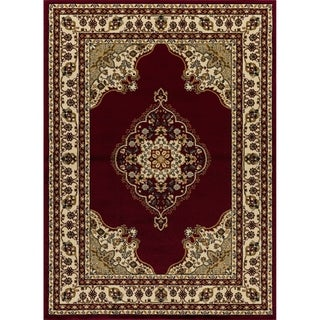 """Mod-Arte, Crown Collection, CR02, Traditional Floral Design Bordered Area Rug, 7'8"""" x 10'2"""" - 7'8 x 10'"""