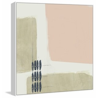 Marmont Hill - Handmade Monotype Abstraction I Floater Framed Print on Canvas