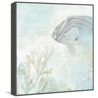 Marmont Hill - Handmade Coastal Fresco II Floater Framed Print on Canvas