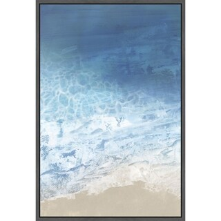 Ebb & Flow I' Floater Framed Painting Print on Canvas