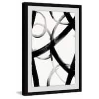 Monochrome Ripple III' Framed Painting Print - Multi-color