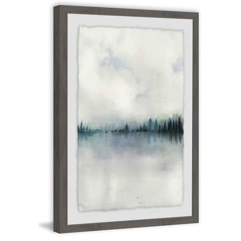 Marmont Hill - Handmade Horizon Whisper I Framed Print
