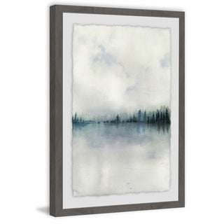 Horizon Whisper I' Framed Painting Print - Multi-color