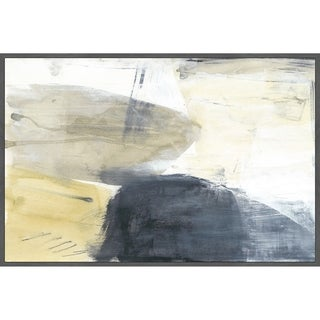 Marmont Hill - Handmade Neutral Divide III Floater Framed Print on Canvas