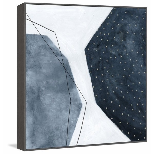 Marmont Hill - Handmade Adjacent Abstraction II Floater Framed Print on Canvas