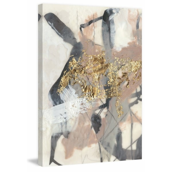 Shop Golden Blush I' Painting Print on Wrapped Canvas