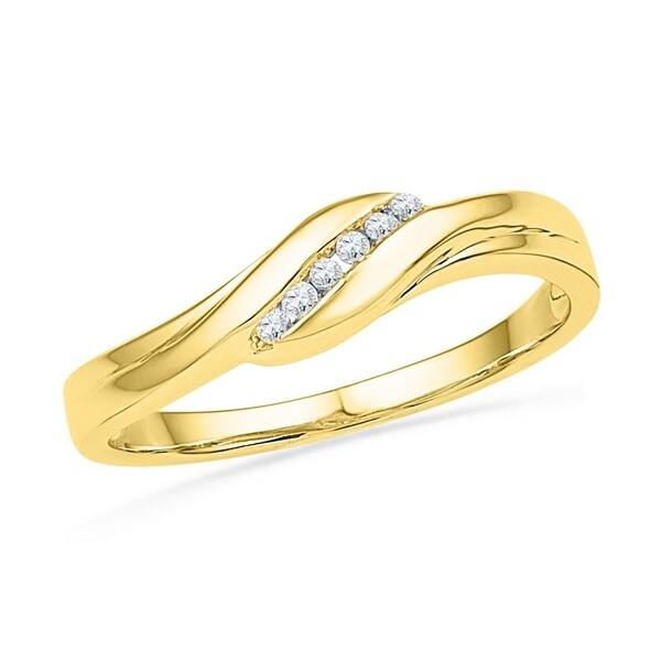 f9c92fb1f93 Shop 10k Yellow Gold Round Diamond Womens Daily-wear Simple Classic Band  1 20 Cttw - Ring Size 7 Ring Size 7 - Free Shipping Today - Overstock -  22484260