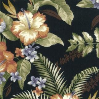 Blazing Needles 51-inch All-Weather Bench Cushion (Tropique Raven)