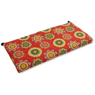 Blazing Needles 51-inch All-Weather Floral Bench Cushion