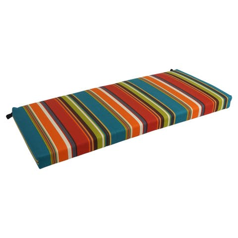 Blazing Needles 51-inch Striped All-Weather Bench Cushion