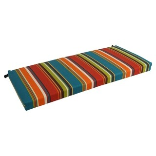 Blazing Needles 51-inch All-Weather Striped Bench Cushion
