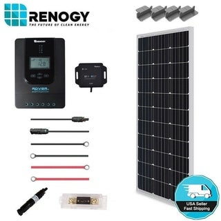 Link to Renogy 100W 12V Mono Solar Panel Premium Kit Off Grid System 20A MPPT Controller - Black - N/A Similar Items in Hardware & Accessories