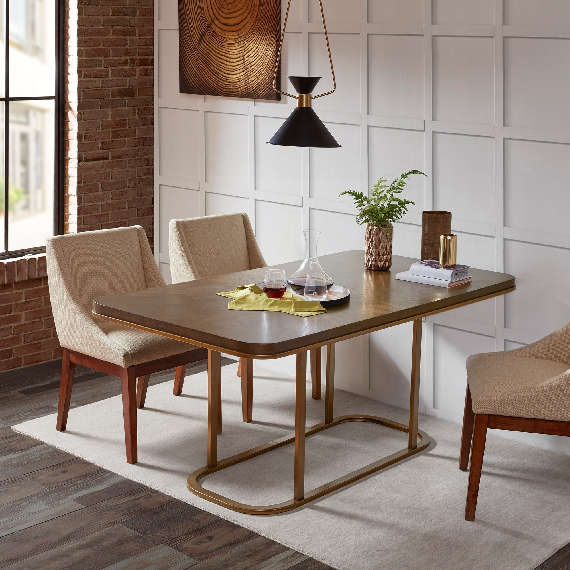 INK+IVY Stephan Brown Rectangle Dining Table - 68w x 36.5d x 30h