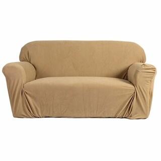Stretch Slipcover 3-Seat Sofa Cover Beige