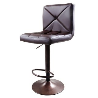 Bar Stool Adjustable Armless Barstools Bistro Pub Chair (Brown)