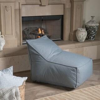 Siarl Indoor Dark Grey Fabric Bean Bag Lounger by Christopher Knight Home (Dark Grey)
