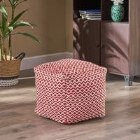 Camilla Indoor Modern Boho Pouf by Christopher Knight Home