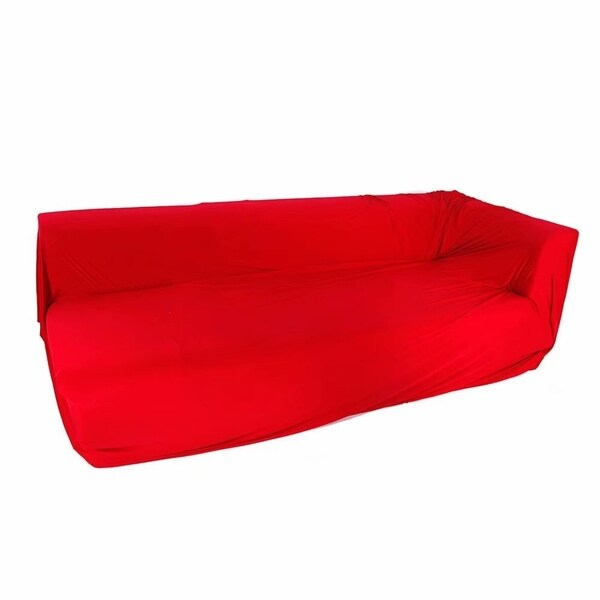 Spandex 2 Seats 3 Seats L Shaped High Elasticity Sofa Covers Red