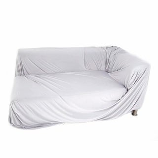 Spandex 3 Seats 3 Seats L-shaped High Elasticity Sofa Covers Gray